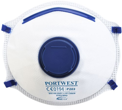 Portwest P203 FFP2 Valved Respirator (10 stuks)