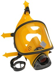Spasciani TR 82 Volgelaatsmasker Geel Silicoon