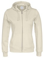 CottoVer Full Zip Hood Dames-XS-Offwhite