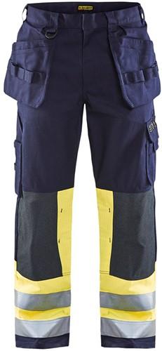 Blaklader 14791514 Multinorm werkbroek - Navy/Geel