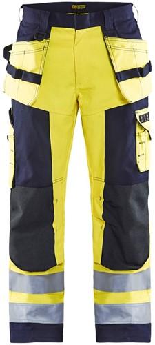 Blaklader 15791514 Multinorm werkbroek - Geel/Marineblauw