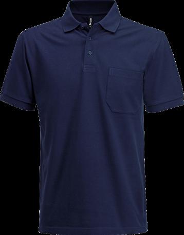 Acode Polo piqué zware kwaliteit met borstzak-XS-Donker marineblauw