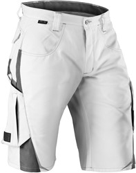 KÜBLER PULSSCHLAG Shorts Wit/Antraciet Katoen/Polyester
