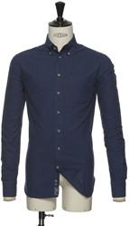 J.H&F Indigo Bow 31 Slim Overhemd