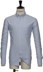 J.H&F Indigo Bow 32 Slim Overhemd