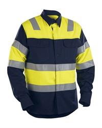 Blaklader 32281515 FR Overhemd High Vis Navy/Geel