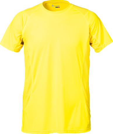 Acode Heren Coolpass T-shirt-S-Lichtgeel