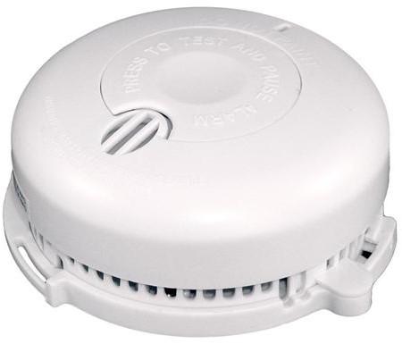 Rookmelder 3V optisch pauzeknop, 2x1,5 alkaline batt.