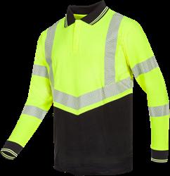 Sioen Ardva Signalisatie polo met vlamboogbescherming - Fluo Geel/Marine