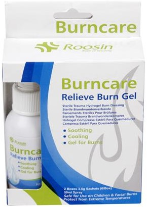 Burncare set: 50 ml spray + 2x doos van 6 sachets