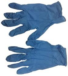 Handschoenen nitril (1 paar) blauw maat L