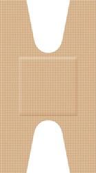 Elastische textielpleisters knokkel 68x38mm 50 st