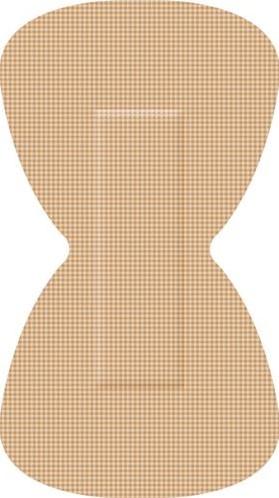 Elastische textielpleisters vlinder 68x38mm 50 st