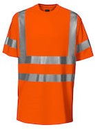 Projob 6010 T-shirt High-vis CL2-Oranje-S/M