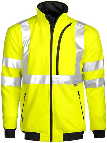 Projob 6103 Sweat T-shirt High-vis CL 3-Geel/Zwart