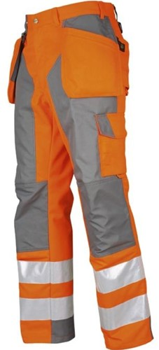 Projob 6506 Werkbroek High-vis CL.2 Oranje/Zwart-Oranje/Zwart-D100