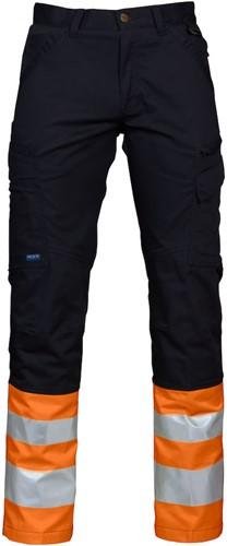 Projob 6523 High-vis Werkbroek CL.1 - Oranje/Zwart-Oranje/Zwart-D100