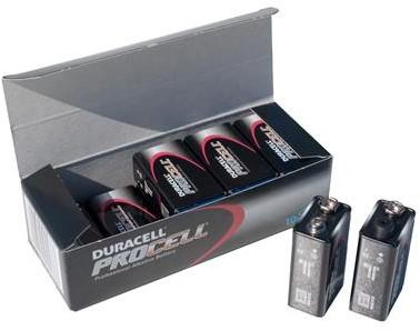 Duracell Industrial Batterij 9 volt blok /PC1604 p-10