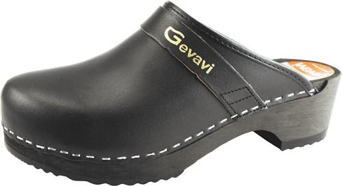 Gevavi 9200 Open Schoenklomp Hout - zwart-36
