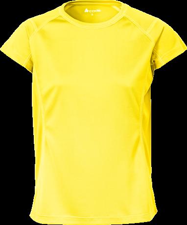 Acode Dames Coolpass T-shirt-S-Lichtgeel