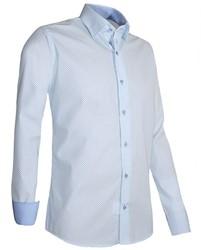 Giovanni Capraro 937-32 Overhemd - Wit [Licht Blauw accent]