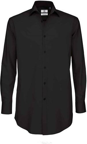 B&C Black Tie LSL Heren Overhemd-Zwart-S