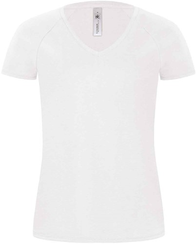 B&C Blondie Classic Dames T-shirt-Wit-XS