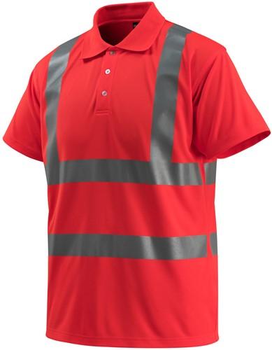 Mascot Bowen Poloshirt - Hi-Vis Rood