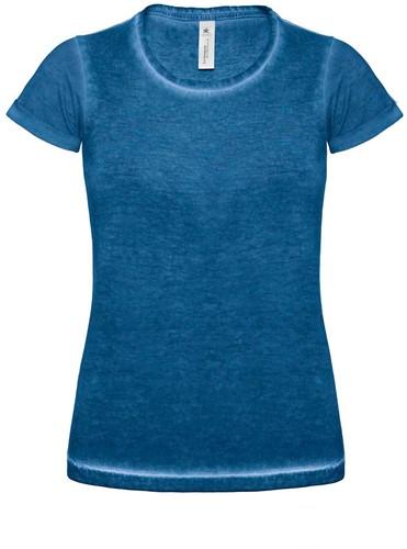 B&C DNM Plug In Dames T-shirt-XS-Blauw Clash