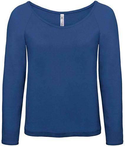 B&C Eden Dames Sweater-XS-Pacific Diep blauw