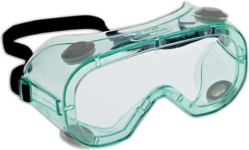 Dynamic Safety Ruimzichtbril Chem Splash - Groen montuur
