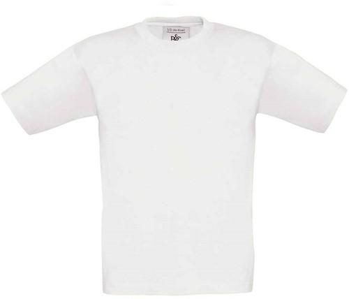 B&C Exact 190 kids T-shirt-Wit-12/14