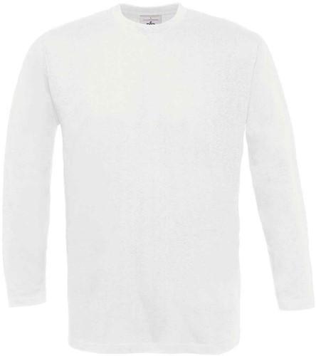 B&C Exact 190 LSL T-shirt-Wit-S