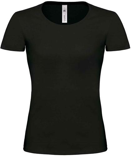 B&C Exact 190 Top Dames T-shirt-Zwart-XS