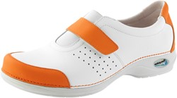 Wash&Go Clog Gesloten wit/oranje