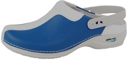 Wash&Go Clog Open - licht blauw/wit