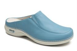 Wash&Go Clog open met elastiek - licht blauw