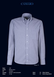 Giovanni Capraro 125-17 Overhemd - Licht Grijs gestreept