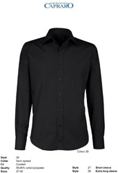 Giovanni Capraro 26-20 Overhemd - Zwart