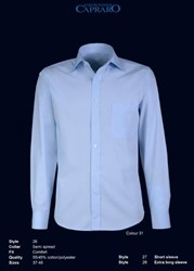 Giovanni Capraro 26-31 Overhemd - Blauw