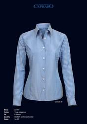 Giovanni Capraro 27004-36 Blouse - Blauw gestreept