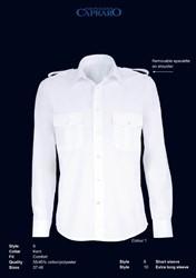 Giovanni Capraro 9-01 Pilot Overhemd - Wit