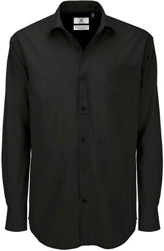B&C Heritage LSL Heren Overhemd-Zwart-S