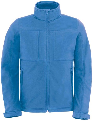 B&C Hooded softshell Jas Heren-S-Azure