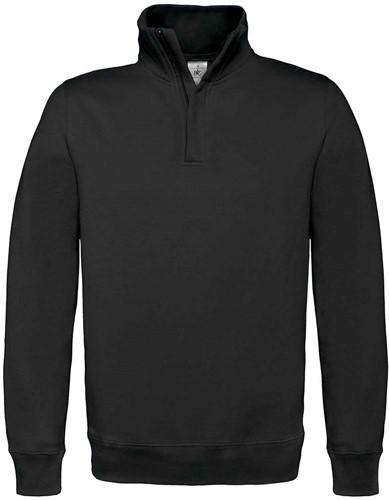 B&C ID.004 Zip sweater-Zwart-S