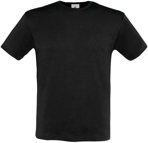 B&C Heren-Fit T-shirt-Zwart-S