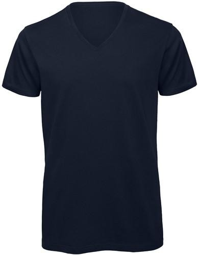 B&C TM044 V Heren T-shirt - Navy - S-Navy-S