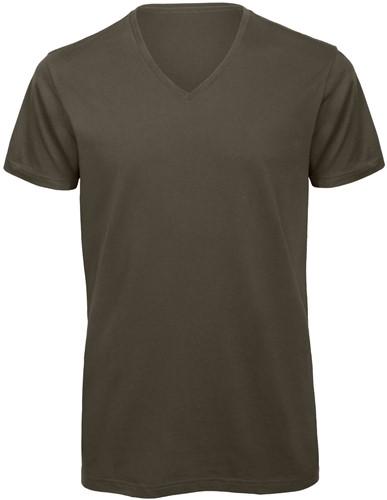 B&C TM044 V Heren T-shirt - Khaki - S-Khaki-S