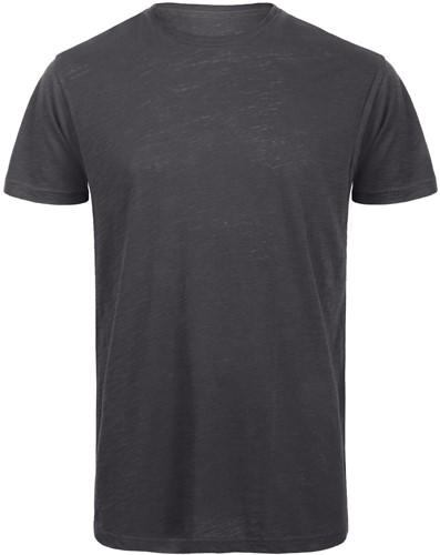 B&C TM046 Slub Heren T-shirt - Chic anthracite - S-S-Chic anthracite