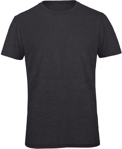B&C TM055 Triblend Heren T-shirt - Heather donker grijs - S-S-Heather donker grijs
